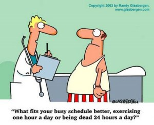 doctor lecturing about exercise