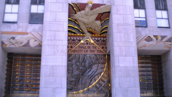 "Lee Lawrie's ""Wisdom"" Rockefeller Center"