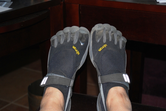 Vibram FiveFingers on my feet