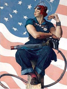 Norman Rockwell's painting of Rosie the Riveter