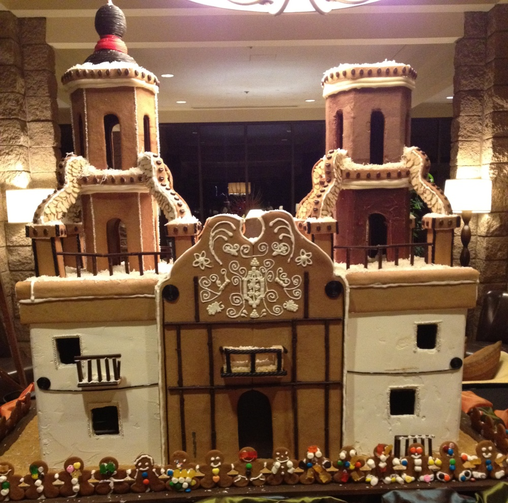 gingerbread replica of Mission San Xavier del Bac