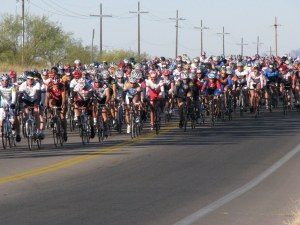 Biker riding El Tour de Tucson